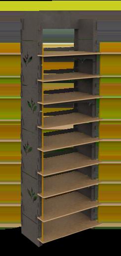 Illustration du présentoir en bois J-Lock